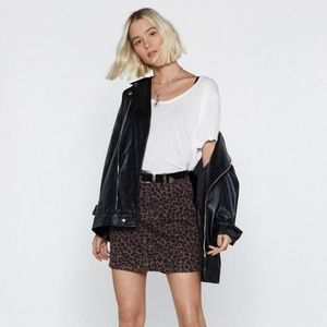 Only Time Will Tail Leopard Skirt